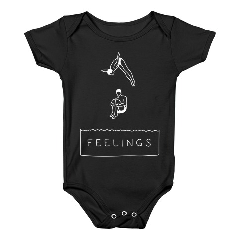 Diving Into Feelings Baby Onesy