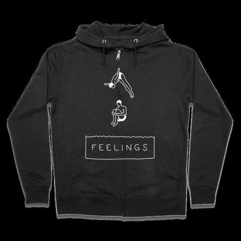 Diving Into Feelings Zip Hoodie