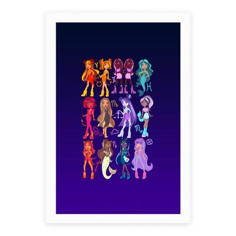 Zodiac Dollz Poster