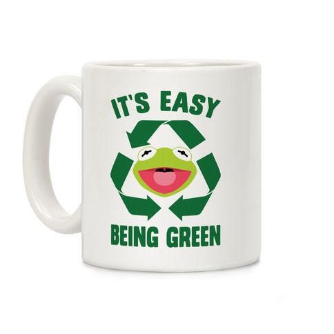 It's Easy Being Green Recycling Kermit Coffee Mug