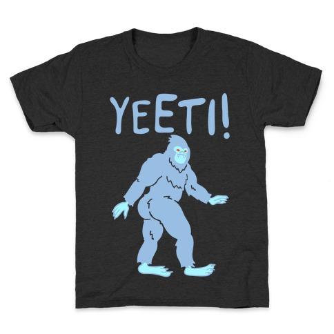 Yeeti Yeti Parody White Print Kids T-Shirt