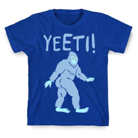 Yeeti Yeti Parody White Print T-Shirt