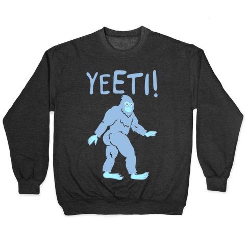 Yeeti Yeti Parody White Print Pullover