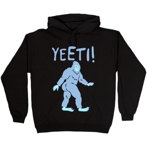 Yeeti Yeti Parody White Print Hooded Sweatshirt
