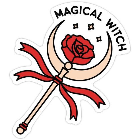 Magical Witch Wand Die Cut Sticker