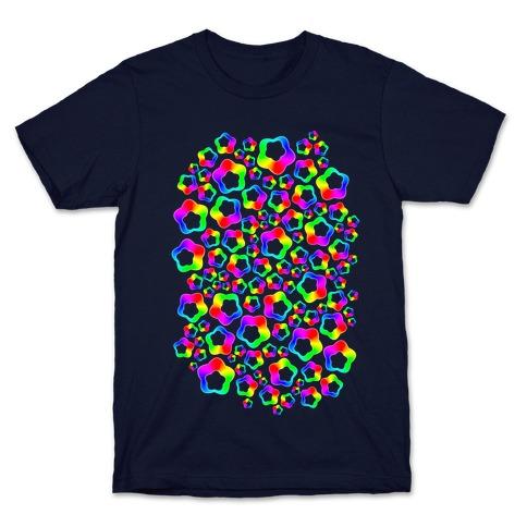 Squishy Rainbow Stars Mens/Unisex T-Shirt