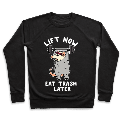 Lift Now Eat Trash Later Opossum Pullover