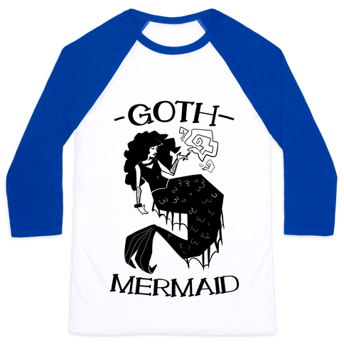 Goth Mermaid Baseball Tee
