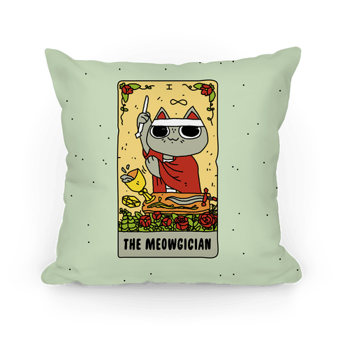 The Meowgician Pillow