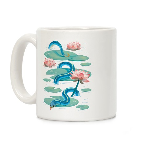 Garter Among Lily Pads Coffee Mug