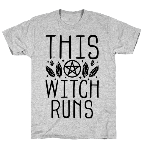 This Witch Runs Mens/Unisex T-Shirt