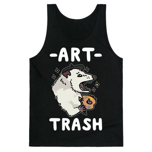 Art Trash Possum Tank Top