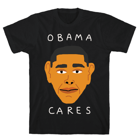 Obama Cares Mens T-Shirt
