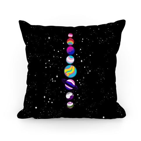 LGBTQ+ Planets Pillow