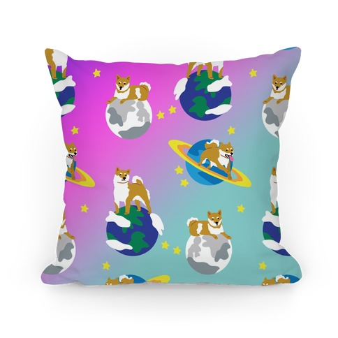 Shibas in Space Pillow