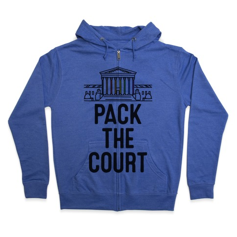 Pack The Court with Pride Zip Hoodie