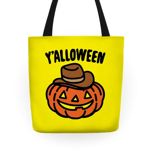 Y'alloween Halloween Country Parody Halloween Tote Bag Tote