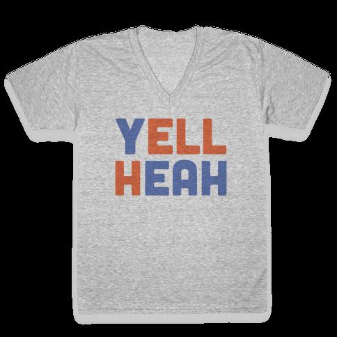 Yell Heah V-Neck Tee Shirt