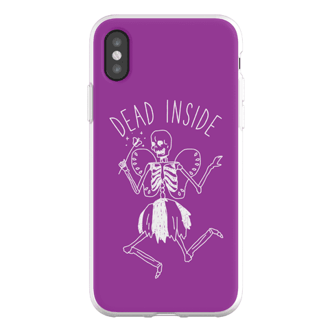 Dead Inside Skeleton Fairy Phone Flexi-Case