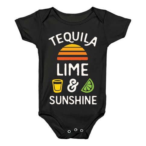Tequila Lime And Sunshine Baby Onesy
