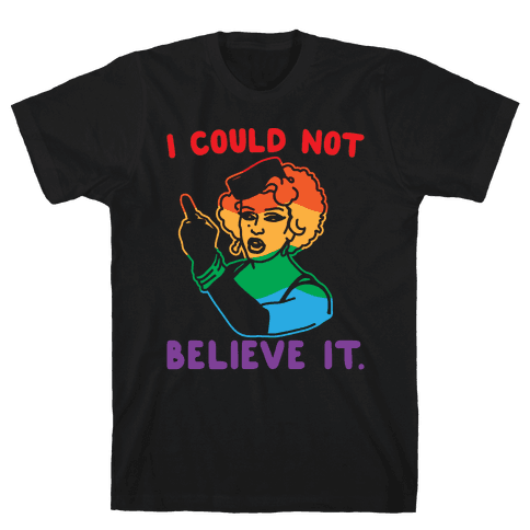 I Could Not Believe It Parody Pair Shirt White Print Mens T-Shirt