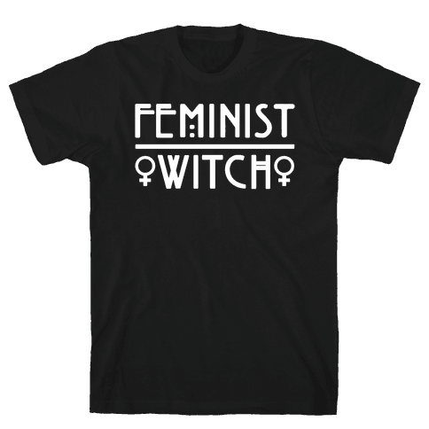 Feminist Witch White Print Mens T-Shirt