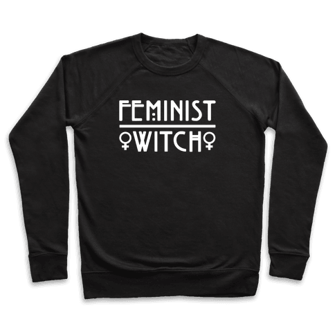 Feminist Witch White Print Pullover