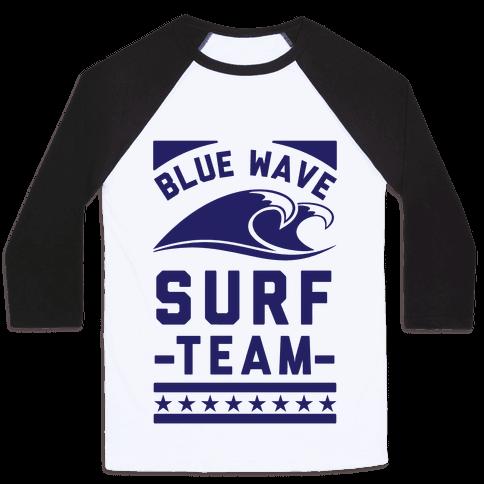 Blue Wave Surf Team Baseball Tee