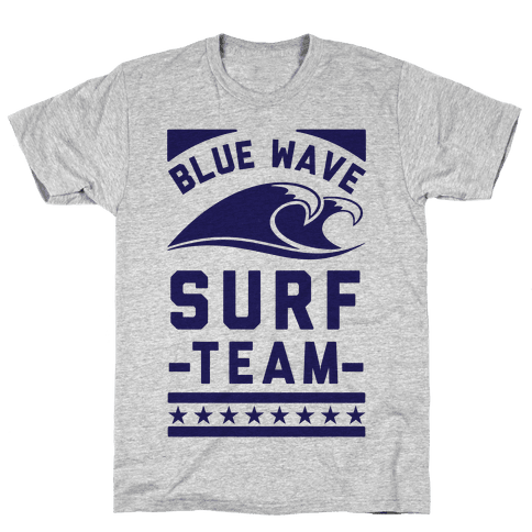 Blue Wave Surf Team Mens T-Shirt