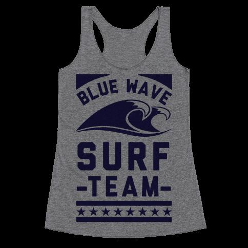 Blue Wave Surf Team Racerback Tank Top