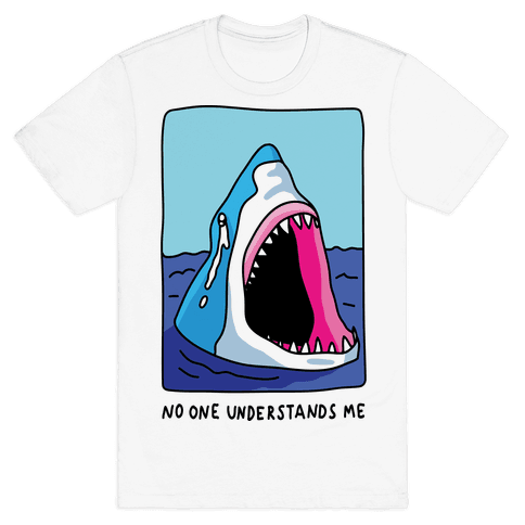No One Understands Me Shark Mens T-Shirt