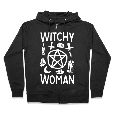 Witchy Woman Zip Hoodie
