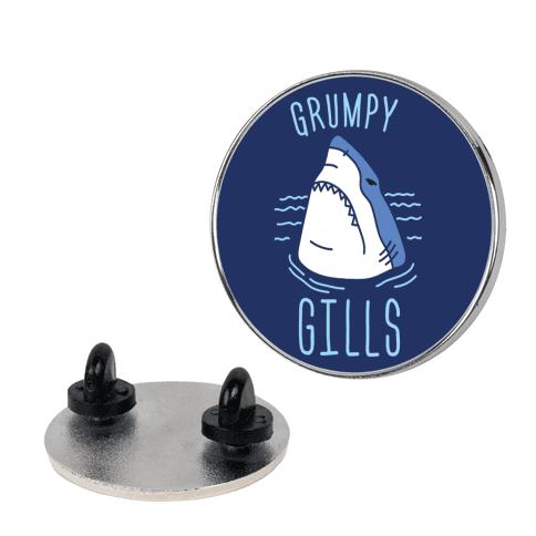 Grumpy Gills Shark  pin