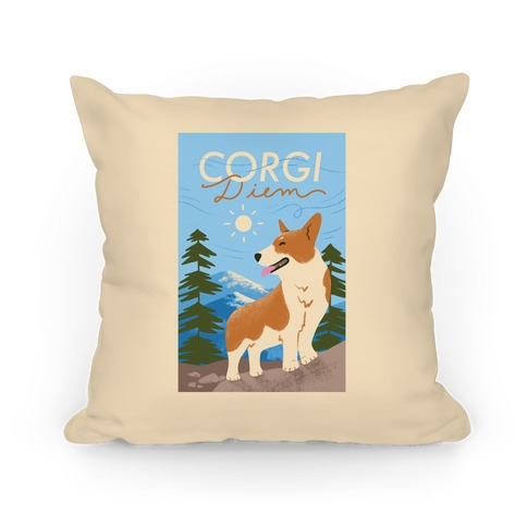 Corgi Diem Pillow