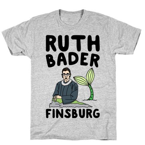 Ruth Bader Finsburg Mermaid Parody T-Shirt