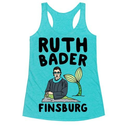 Ruth Bader Finsburg Mermaid Parody Racerback Tank Top