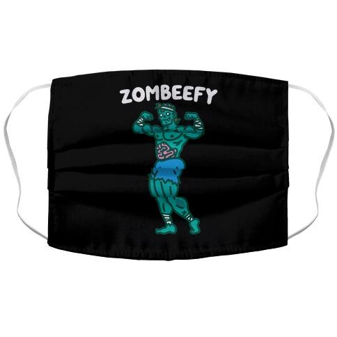 Zombeefy Parody Accordion Face Mask