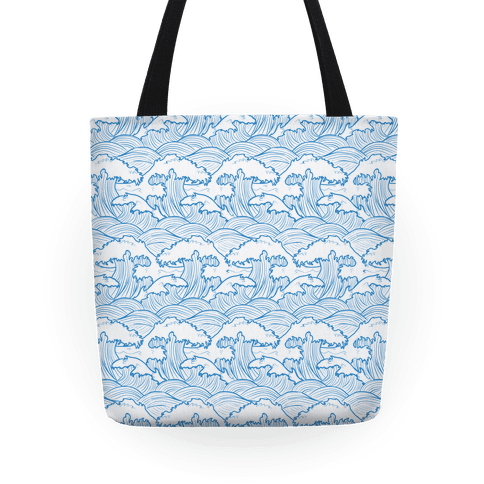 Traditional Japanese Waves Tote