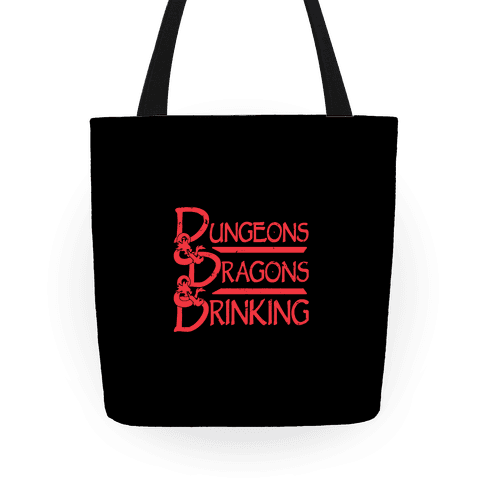 Dungeons & Dragons & Drinking Tote