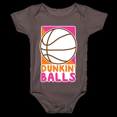 Dunkin' Balls - Basketball Baby One-Piece
