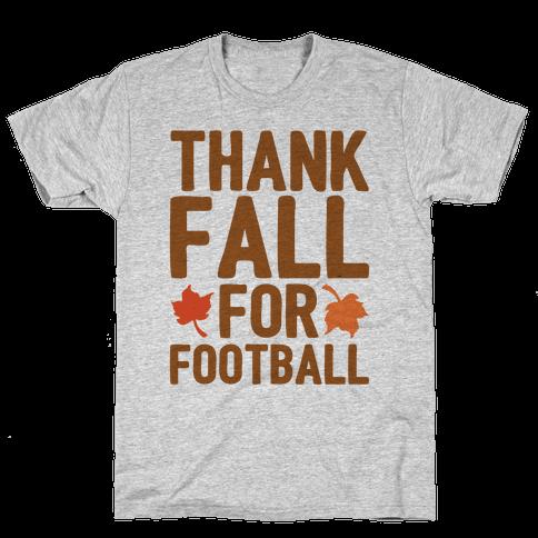 Thank Fall For Football Mens T-Shirt