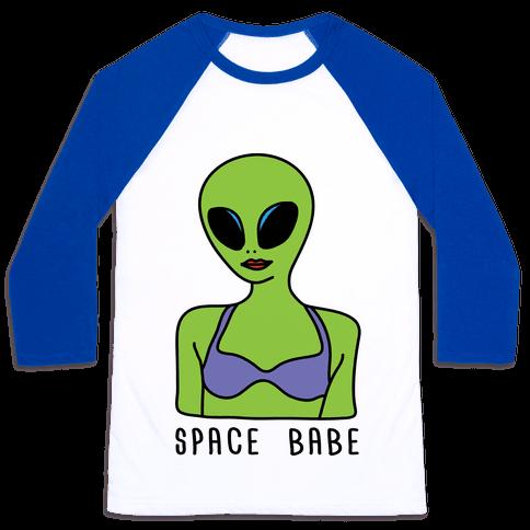 Space Babe Baseball Tee