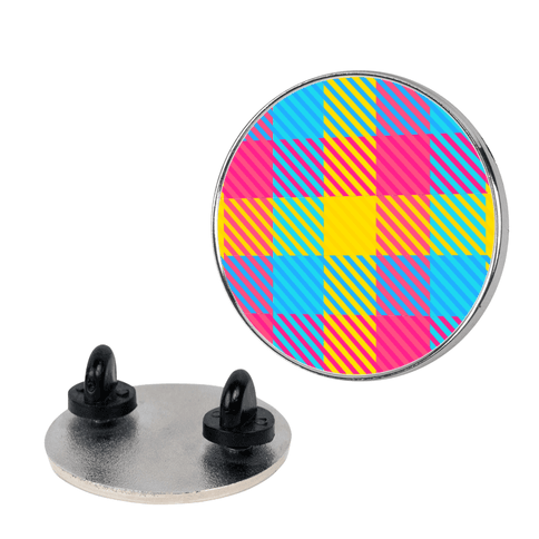 Pan Pride Flag Plaid Pin