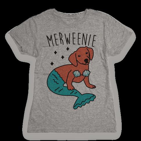 Merweenie Dachshund Womens T-Shirt