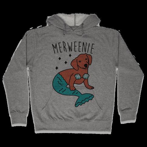 Merweenie Dachshund Hooded Sweatshirt