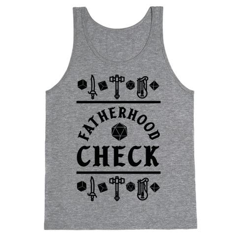 Fatherhood Check Tank Top