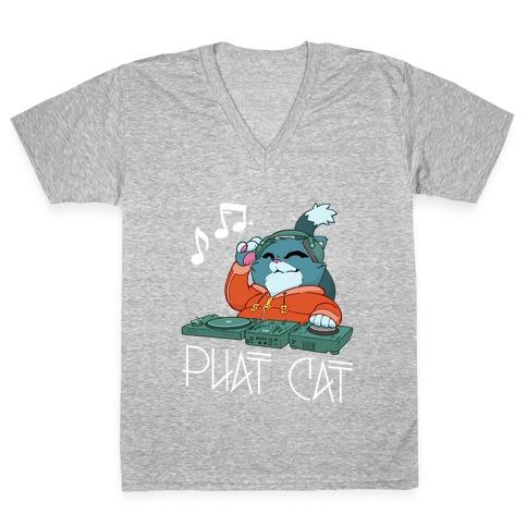 Phat Cat V-Neck Tee Shirt