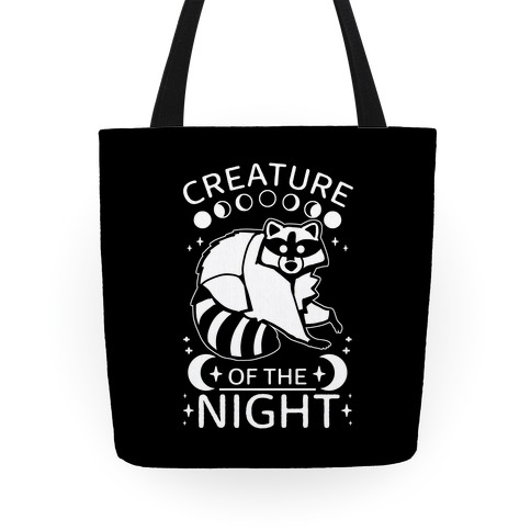 Creature Of The Night Raccoon Tote