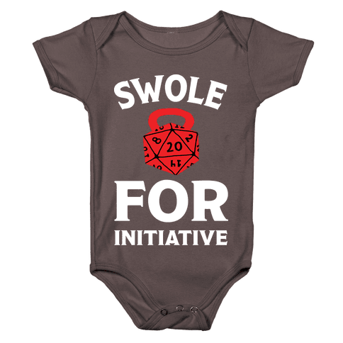 Swole For Initiative D20 Baby One-Piece