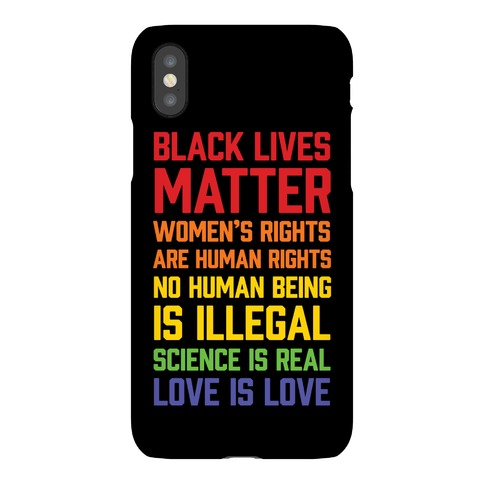 Black Lives Matter List Phone Case